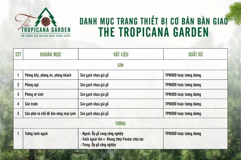 The Tropicana Garden