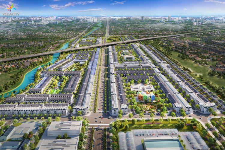 Phối cảnh khu đô thị Vega City Long Thành