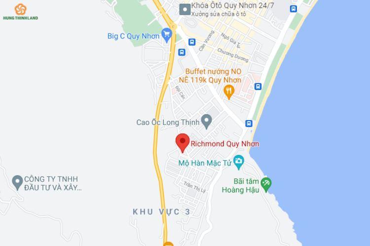 """Vị trí """"Vàng"""" dự án khu đô thị Richmond Quy Nhơn"""