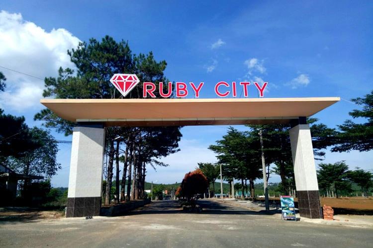 Cổng dự án Ruby City Bảo Lộc