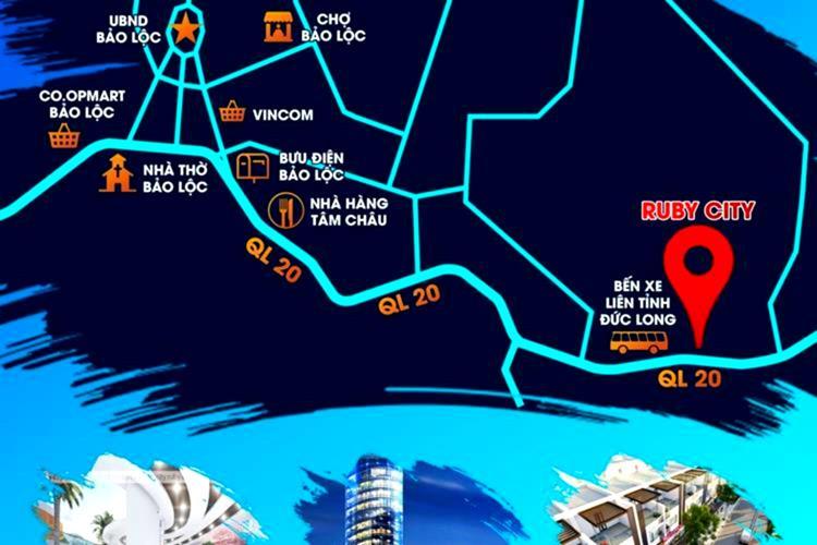 Vị trí dự án Ruby City Bảo Lộc