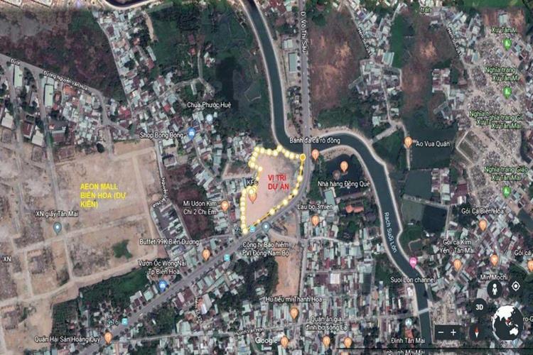 Vị trí dự án Diamond Central Biên Hòa