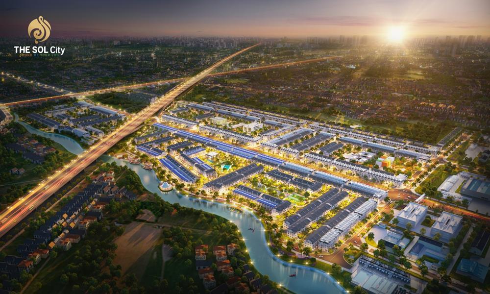 Phối cảnh dự án The Sol City Long An