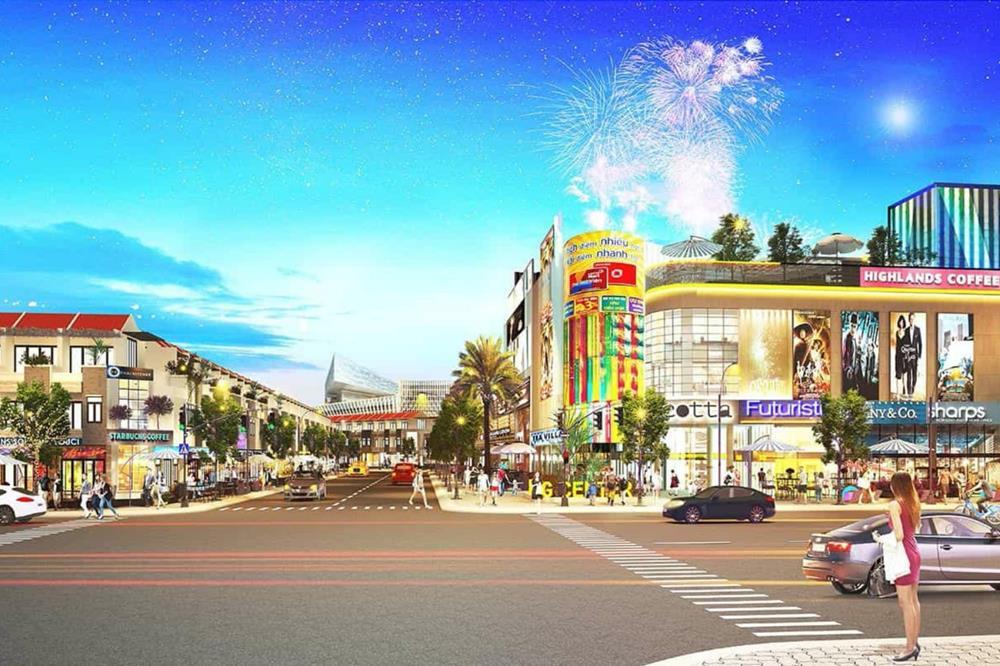 Trung tâm mua sắm rộng tại nội khu dự án