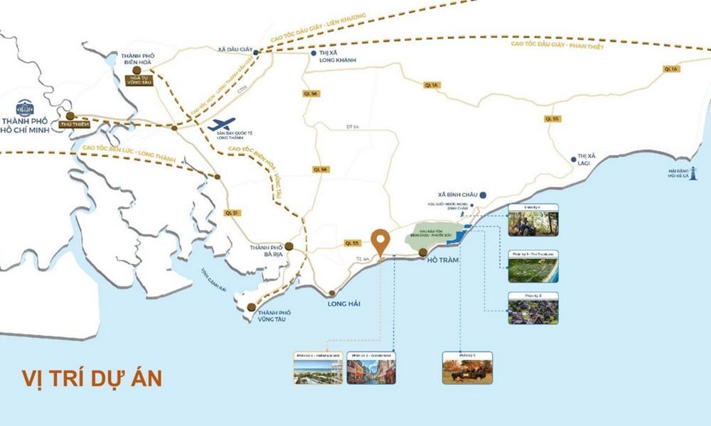 Vị trí dự án Habana Island Hồ Tràm