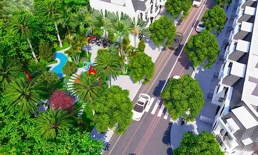 Dự án bao phủ với không gian cây xanh thoáng mát