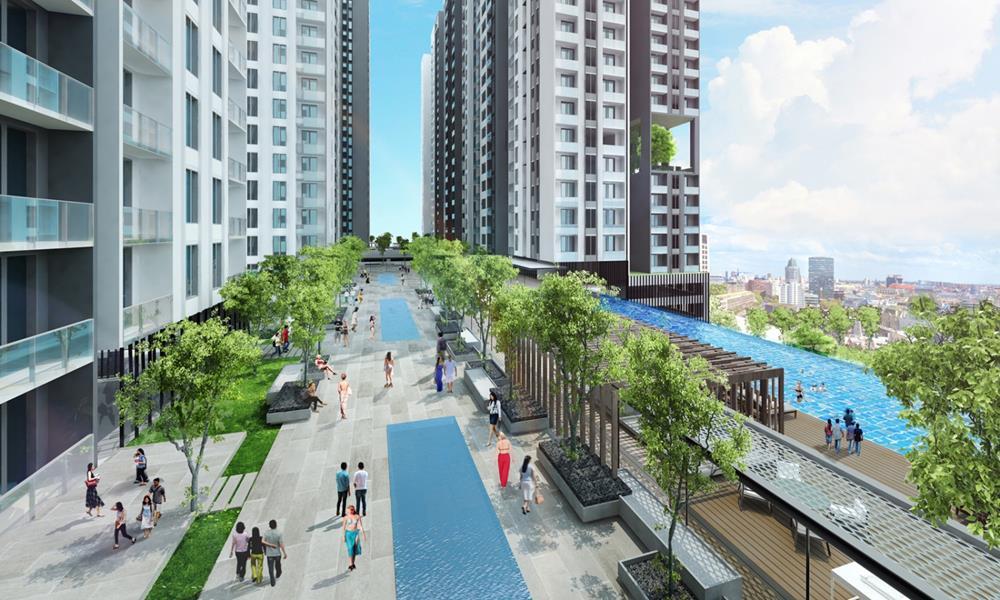 Đường dạo bộ nội khu dự án Hà Đô Centrosa Garden
