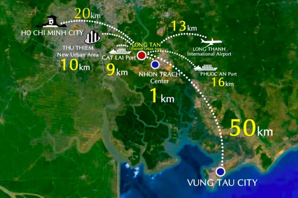 Vị trí kết nối liên vùng của dự án DIC Wisteria City Đồng Nai