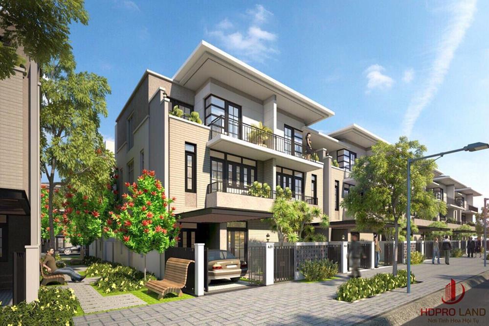 Phối cảnh nhà phố tại dự án Novaworld Đà Lạt