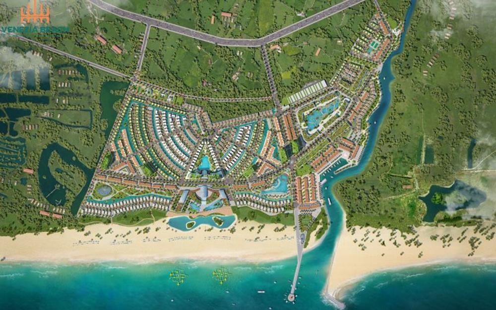 Phối cảnh dự án nghĩ dưỡng Venezia Beach Bình Châu