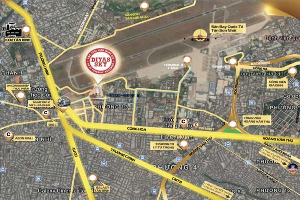 Vị trí khu căn hộ Diyas Tân Sơn Gò Vấp