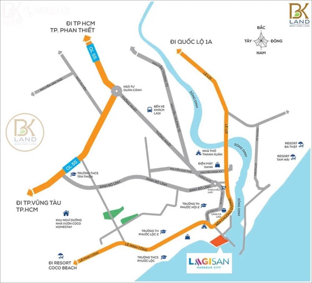 Vị trí khu đô thị Lagi New City