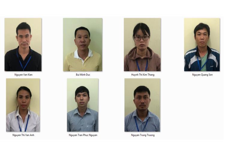 Hình ảnh các nhân viên Alibaba bị tạm giam